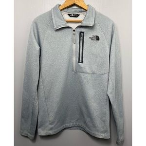 THE NORTH FACE Gray Quarter Zip Jacket